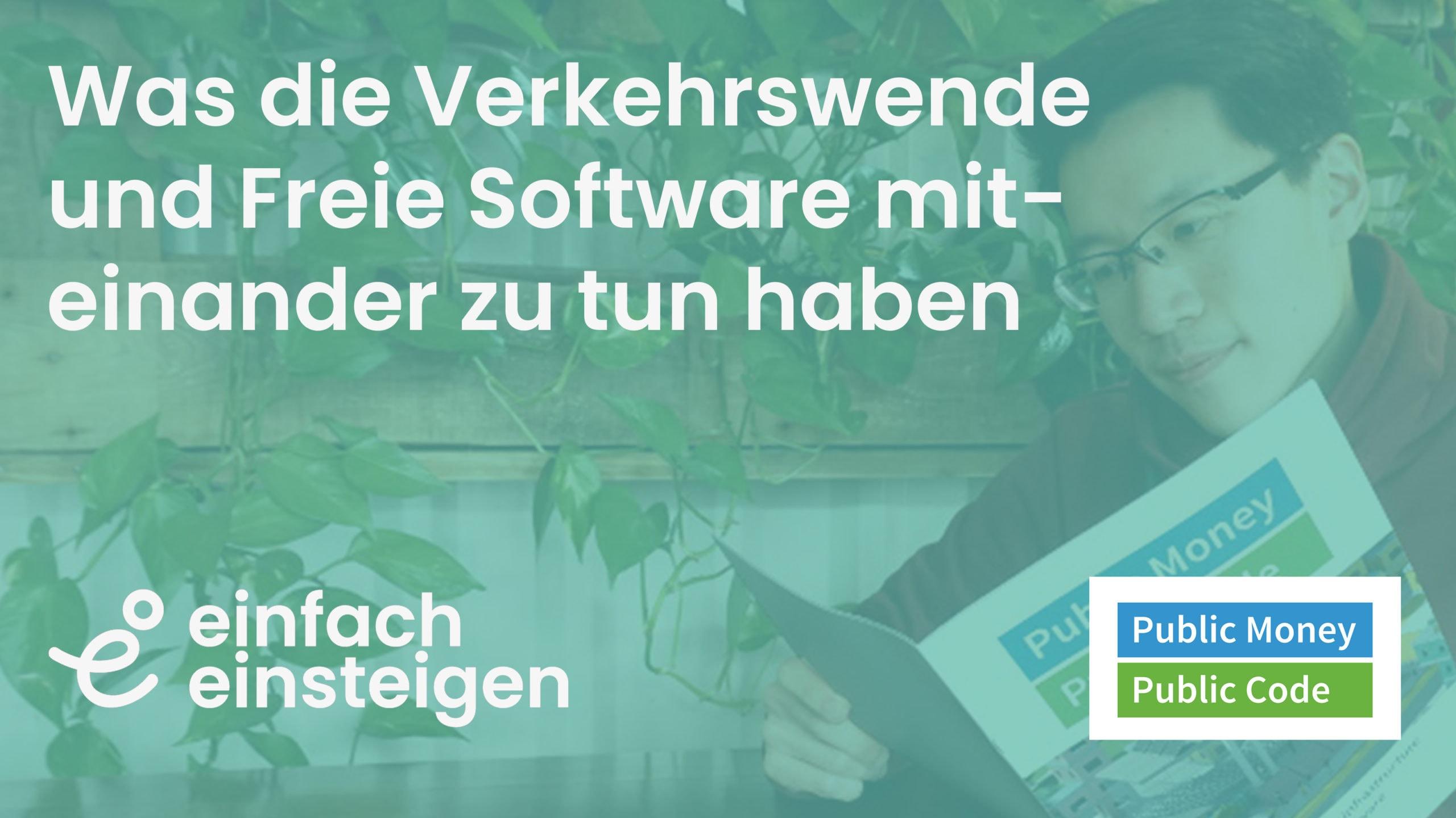 Was die Verkehrswende und Freie Software miteinander zu tun haben 1